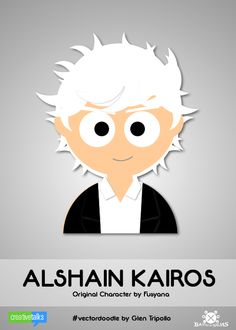 ALSHAIN KAIROS, original character by Fusyana. #VectorDoodle by Glen Tripollo