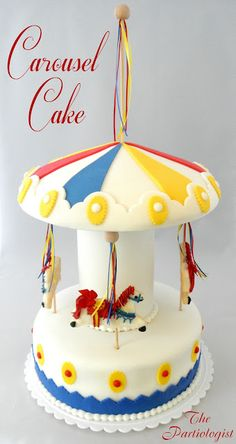tutorial: how to make a Carousel Cake for a circus / carnival party