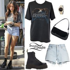 Madison Beer Clothes & Outfits   Steal Her Style Madison Beer Style, Madison Beer Outfits, Dr Martens Outfit, Doc Martens, Maddison Beer, Girl Fashion, Fashion Outfits, Ripped Skinny Jeans, Her Style