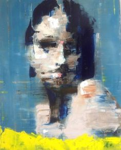 "Saatchi Art Artist Nigel Price; Painting, ""Blue Woman"" #art"