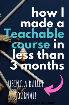 How I Created a Teachable Course in 3 Months Using a Bullet Journal - Conquering Chaos Monthly Bullet Journal Layout, Bullet Journal Mood Tracker Ideas, Bullet Journal Contents, Bullet Journal How To Start A, Bullet Journal Inspiration, Bullet Journals, Creating A Business, Creating A Blog, Community Jobs