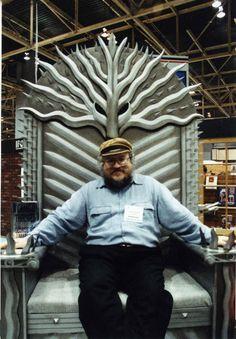 George R.R. Martin on his throne...