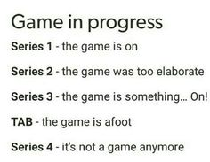 The Game in progress