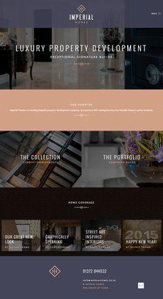 Logo design, branding and responsive WordPress website designed for Imperial Homes. A bespoke property development company, building luxurious homes.