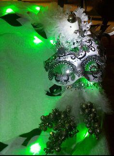 (Close-up) 'THE BISHOP' wreath. Steampunk. By Sabrina Bess LMW