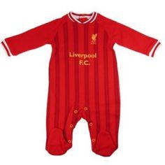 929f8aaf61d 2013 14 Season - Liverpool Baby Kit Sleepsuit - Loving the stripes! 0-