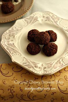 Paleo Chew Coconut Brownie Bites Shared on https://www.facebook.com/LowCarbZen