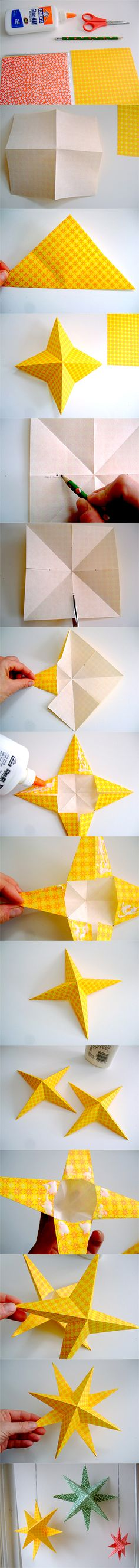 we are all made of stars http://annekata.blogspot.com/2010/11/tutorial-super-simple-paper-stars.html