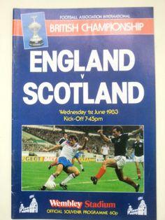 England v Scotland British Championship Football Programme 01/06/1983 Listing in the Other,International Fixtures,Football (Soccer),Sports Programmes,Sport Memorabilia & Cards Category on eBid United Kingdom