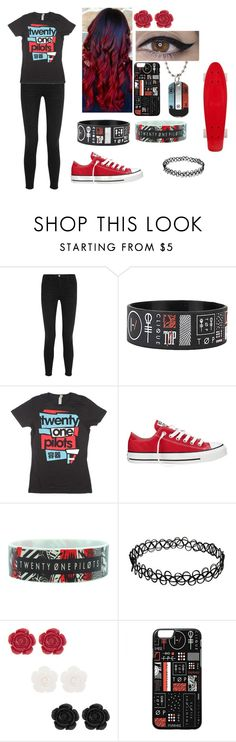 """""""Twenty One Pilots"""" by elizabethcuddles on Polyvore featuring Frame Denim and Converse"""