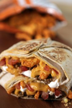 Pin for Later: 19 Copycat Taco Bell Recipes For When the Craving Strikes Cheetos Crunchwrap Supreme Sliders Hack Get the recipe: Cheetos Crunchwrap Supreme Sliders hack