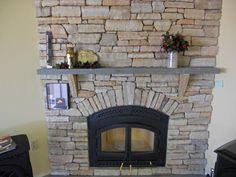 Stein Furnier Kamin: Installieren Stone Veneer Auf Kamin #Kamin