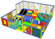 Children Soft Toddler Play Area, sample design IPC1138. Great addition to a children's ministry, family entertainment center, medical hospital, airport terminal, anywhere that young children play. www.iplayco.com