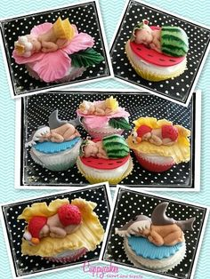 Baby Shower Cupcakes For Girls, Baby Shower Cakes, Marzipan, Baby Bottom Cake, Baby Bump Cakes, Cherry Blossom Cake, Baby Mold, Baby Cake Topper, Cake Topper Tutorial