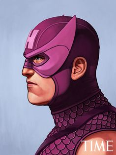 Mike Mitchell - Marvel Portraits Time hawkeye