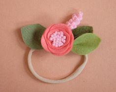 BLUSH // single flower band or alligator clip by fancyfreefinery