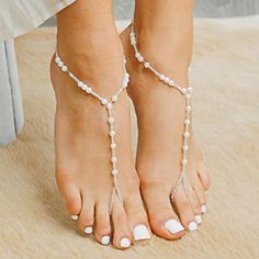 Hawaii Comfortable Soleless Sandals for the Ideal Beach Wedding –. Beach Wedding Attire, Bridal Wedding Shoes, Bridal Sandals, Sandals Wedding, Wedding Dresses, Pearl Sandals, Beaded Sandals, Gladiator Sandals, Shoes Sandals