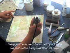 I don't scrapbook much anymore but I never thought of using the heavier papers for an art journal page...I like this idea...I also like the big dropper paint idea....got a few of those from when my daughter (now 18) was little. Lots of great ideas here.    Prima Goes Grunge