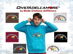 La felpa creala tu! Per creare questo modello segui la guida all'acquisto: http://www.civiltadellamore.net/guida-allacquisto/