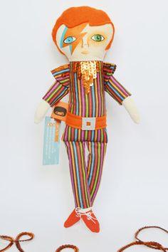 David Bowie doll / Cloth doll / Handmade art by Mandarinasdetela