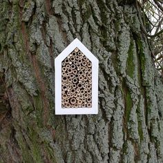 white house for Solitary bee, wild bee house, simple eco friendly design for garden, woodland decoration - made ONLY for a special order on Etsy, $62.00