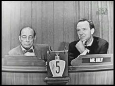 I love watching the Mystery Guest segment of the very old What's My Line? show.  They have people participating that you would not only never get on a game show today, but people who are truly legendary in every sense of the word.  Here's another from that treasure chest.  The guest is Buster Keaton. -- RJE