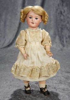 "Rendezvous Auction on Wednesday, May 24th at 7PM EST. 14"" Rare German bisque character ""Baby Betty"" by Marseille with impressed dimples. $400/600"