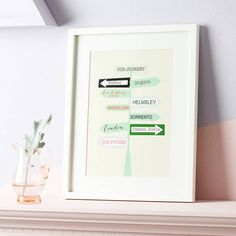 Personalised 'Our Journey' Print