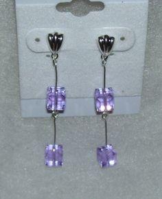 Violet Swarovski Crystal Earrings by mommazart on Etsy, $12.00 by melisa