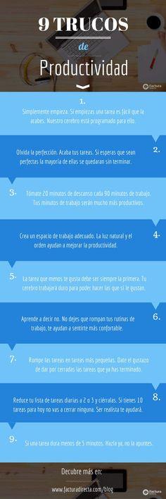 PSICOLOGOS PERU: 9 TRUCOS DE PRODUCTIVIDAD