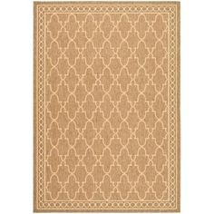 Safavieh Courtyard Dark Beige/Beige 9 ft. x 12 ft. Indoor/Outdoor Area Rug - CY5142B-9 - The Home Depot