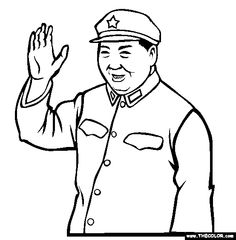mao zedong coloring page free mao zedong online