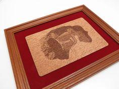 Photo Custom Laser Engraved on wood. Wooden Framed by Altorrelieve, $49.00