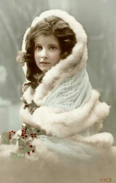 Shop Vintage Winter Christmas Girl Holiday Card created by tyraobryant. Personalize it with photos & text or purchase as is! Vintage Christmas Photos, Vintage Children Photos, Images Vintage, Vintage Diy, Victorian Christmas, Vintage Ephemera, Vintage Girls, Christmas Pictures, Vintage Pictures