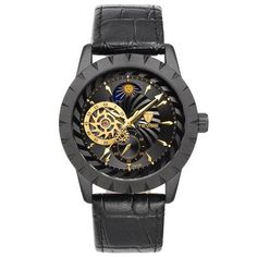 New Black Men's WristWatch Clock Leather strap Antique Steampunk Casual Automatic Skeleton Mechanical Watches Male erkek saat From Touchy Style Outfit Accessories ( gray Watch ) Automatic Skeleton Watch, Automatic Watches For Men, Best Affordable Watches, Cheap Watches For Men, Steampunk, Skeleton Watches, Fossil Watches, Wrist Watches, Women's Watches