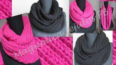 Magnolica: Bufanda infinita con explicacion Knitting, Amigurumi Free, Crochet Ideas, Blog, Diy, Crafts, Fashion, Templates, Basket