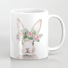 Spring Bunny Mug  Available in 11 and 15 ounce sizes, our premium ceramic coffee mugs feature wrap-around art and large handles for easy gripping. Dishwasher and microwave safe, these cool coffee mugs will be your new favorite way to consume hot or cold beverages.