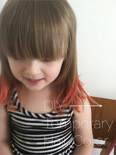 Diy Hair: Temporary Hair Color For Kids (@Brannon Anderson - saw this and thought of Emme).