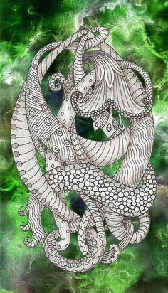 Cool zentangle.
