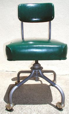Vintage Steelcase C 31 Rolling Office Chair MID Cent Modern DK Green Perf  Cond | EBay