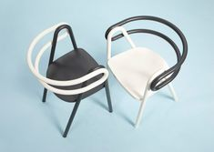 contrasting chair compositions constructed by bakery design