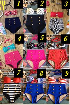 High Waisted Bikinis - Etsy