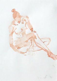 Eric Fischl, 'Untitled (Pink Girl Sitting)', 1993