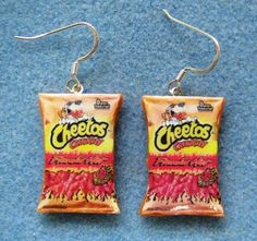 haha. cheeto earrings:)