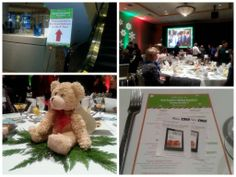 Teddy Bear centerpieces and iTunes Cookbooks from the @Visit Seattle Holiday Breakfast! #1FestiveSeattle
