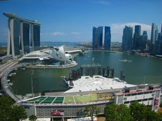 View from the Ritz-Carlton Singapore. Great location !!!