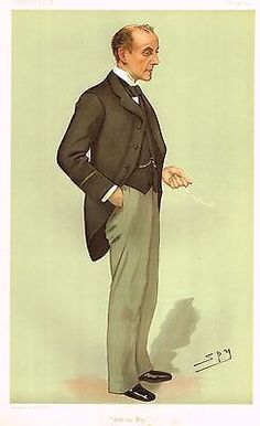 "Vanity Fair, SPY - Chromolithograph - ""ANTHONY HOPE"" - 1894"