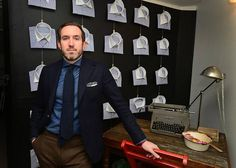 ABBEYDALE: David Watkins designs tailored, European-fit suits for his line, named for the Abbeydale, named for the street he grew up on in east Charlotte.