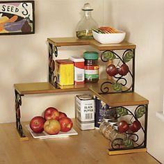 2 Tier Apple Corner Shelf Great For Small Kitchen