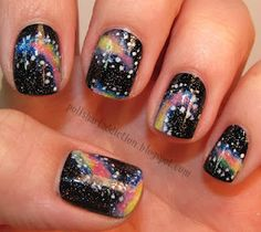 Cute galaxy nails with tutorial!